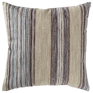Rivet Bohemian Stripe Decorative Pillow, 17  x 17 , Dusk