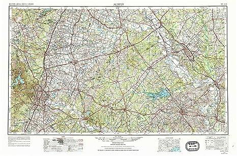 Amazon Com Yellowmaps Austin Tx Topo Map 1 250000 Scale 1 X 2