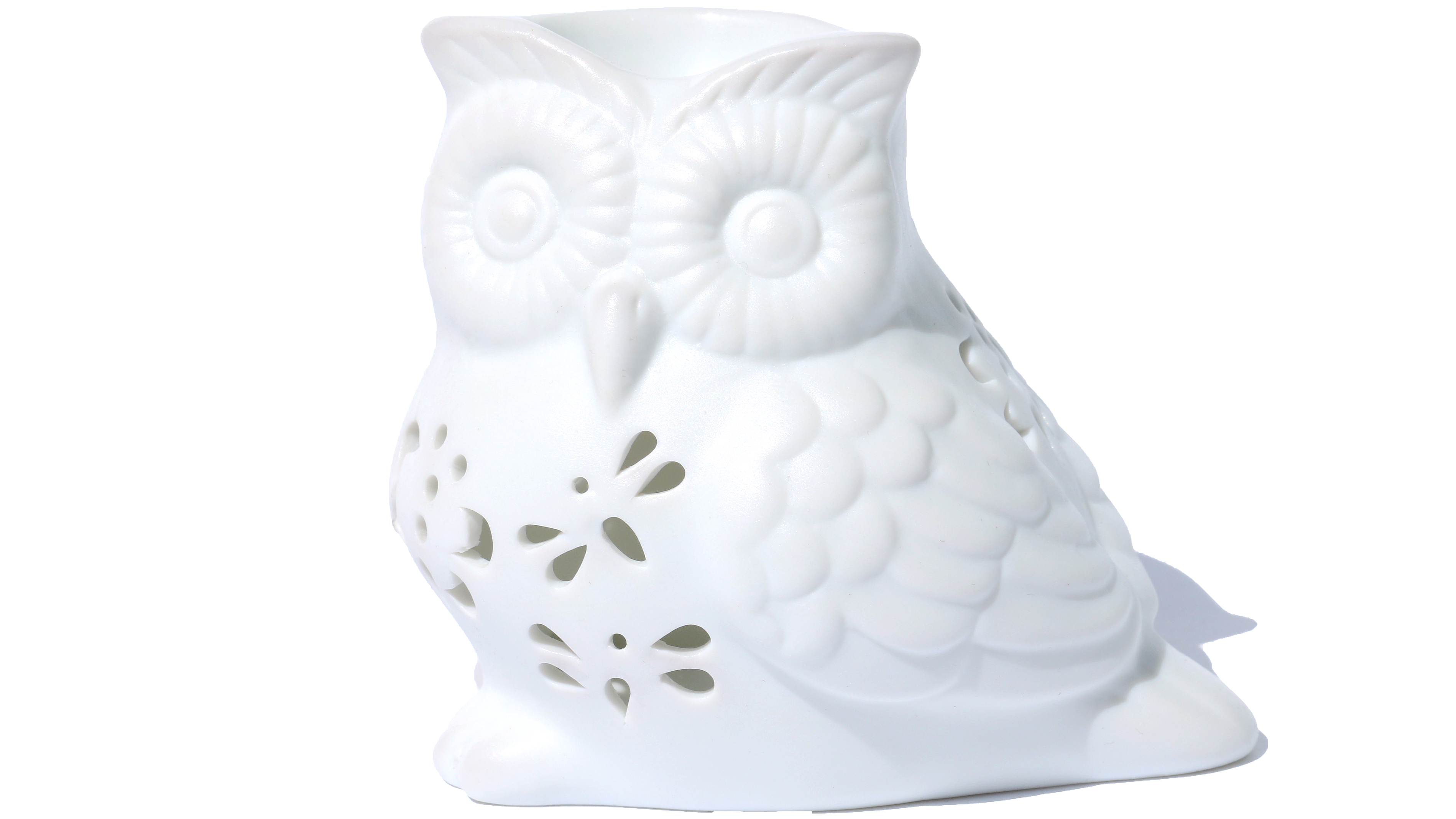OSALADI Ceramic Owl Candle Holders Owl Tealight Cup Decorative Candlestand Table Ornament for Anniversiry Wedding Home Party Golden, Covering Mouth