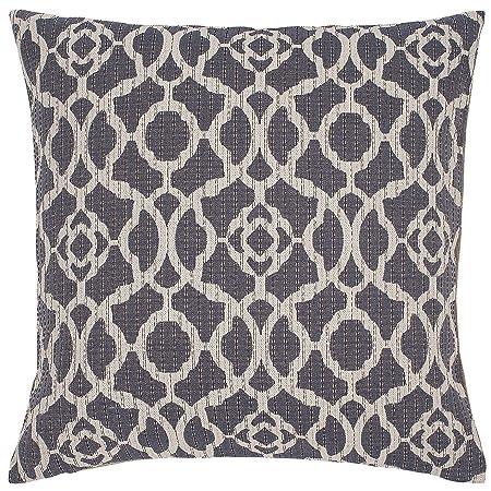 Stone Beam Woven Trellis Modern Decorative Throw Pillow, 20 x 20 , Slate Grey