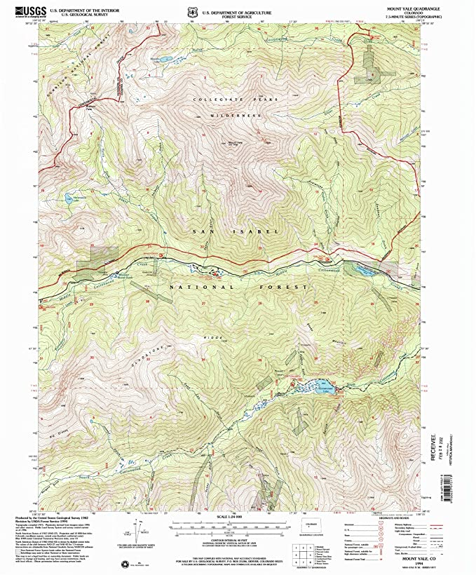 Amazon.com : Mount Yale CO topo map, 1:24000 Scale, 7.5 X 7.5 Minute on yale university parking map, yale america map, yale canada map,