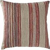 """Amazon Brand – Rivet Bohemian Stripe Decorative Pillow, 17"""" x 17"""", Fuschia"""