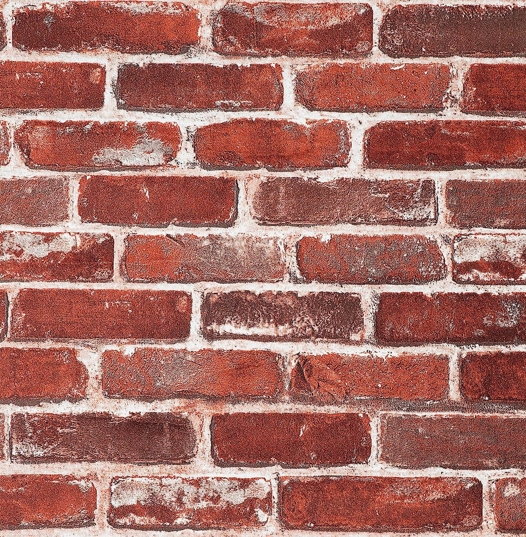 Mauer Aufkleber PVC Abnehmbar Wasserdicht Dekoration 7 Stück Ziegelmuster
