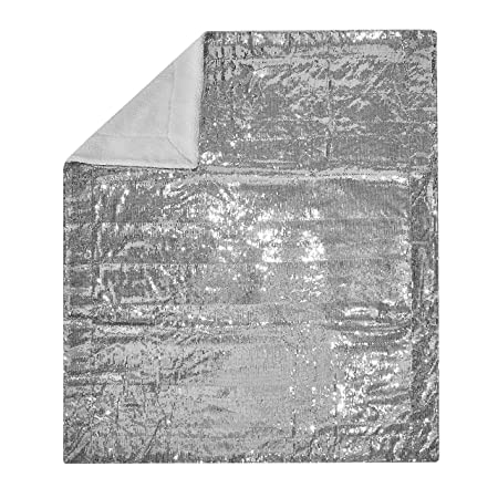 Sparkle Sequin Decorative Throw Blanket Silver Amazoncouk Extraordinary Silver Sequin Throw Blanket
