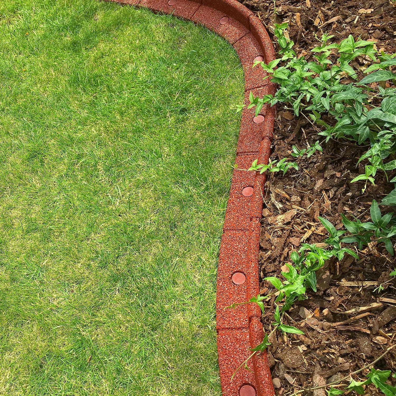 Flexiborder - Bordillo flexible de jardín para césped, resistente a la intemperie, protector para la cortadora de césped - 6 unidades de 1 m de longitud (varios colores): Amazon.es: Hogar