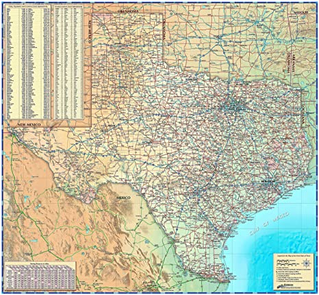 Texas Wall Map - Paper 39