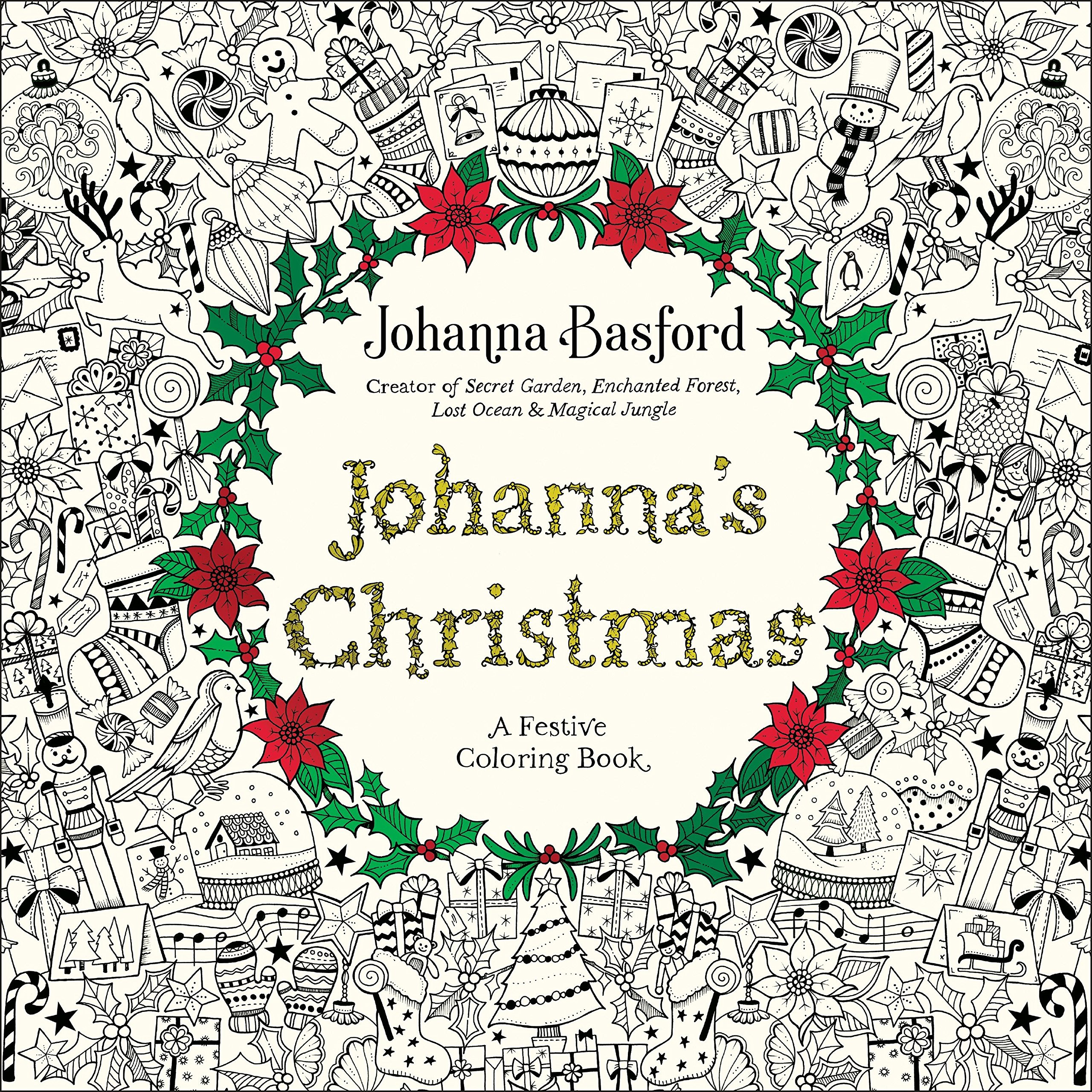 Amazon.com: Johanna\'s Christmas: A Festive Coloring Book for Adults ...