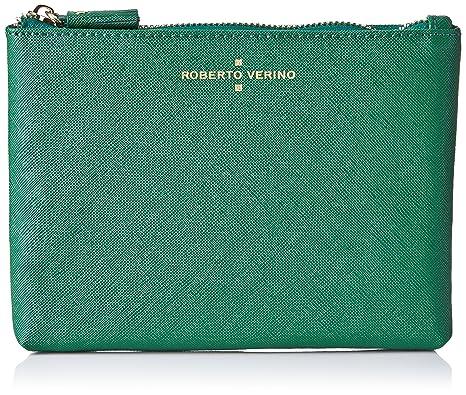 Roberto Verino - Neceser piel saffiano para mujer, color verde (green 59) , talla única: Amazon.es: Ropa y accesorios