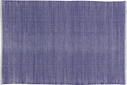 Home Basics HM1M Alfombra para el Hogar, Algodón, Azul Marino, 120 x 180 cm: Amazon.es: Hogar