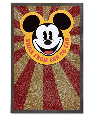 Amazon American Greetings Mickey Mouse Birthday Card With Glitter