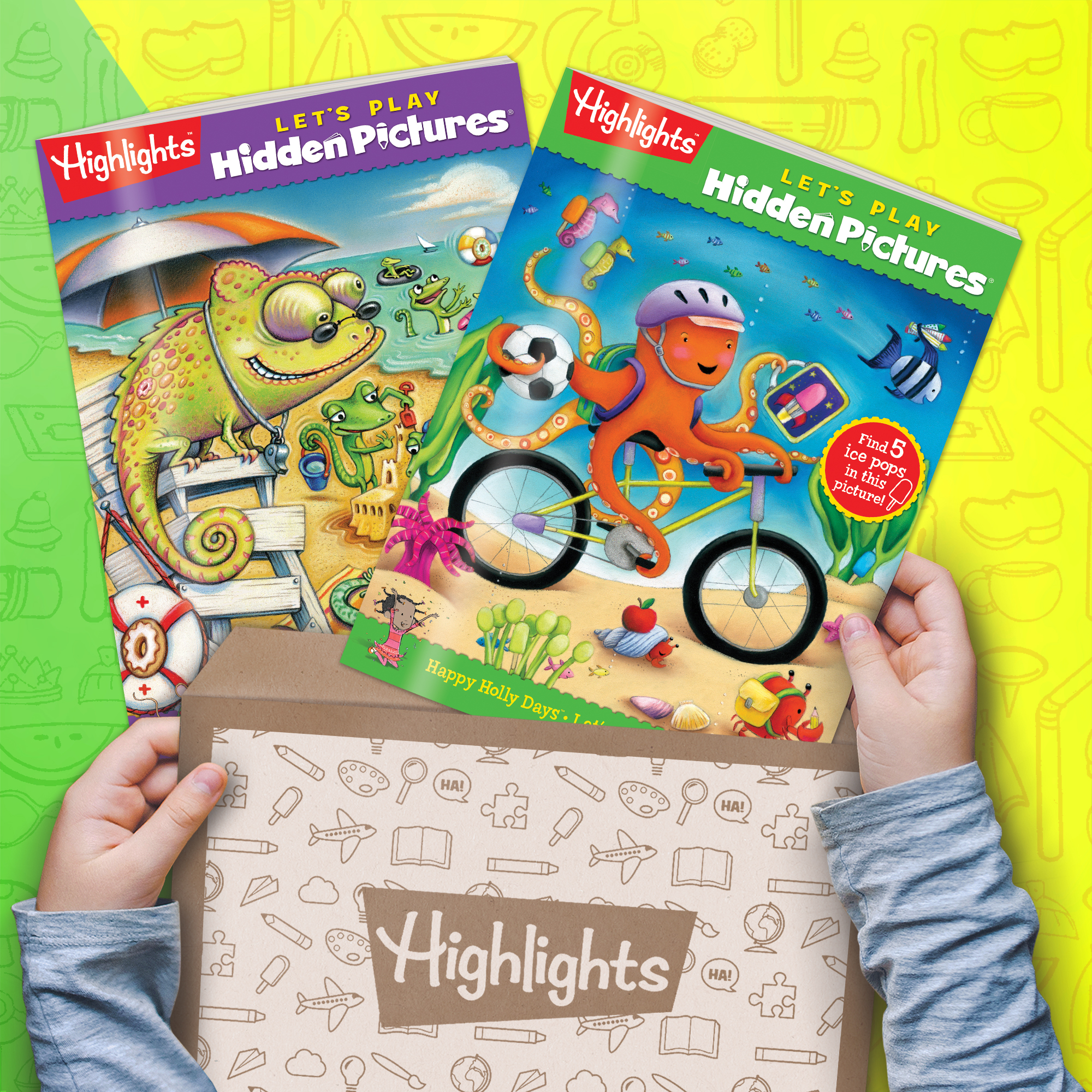 Highlights Hidden Pictures Club - Kids Hidden Pictures Subscription: AGES 3-6 BOX