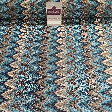 e8a01a1ae97 Multicoloured Chevron Lurex Metallic Thread Lace Dress fabric 55