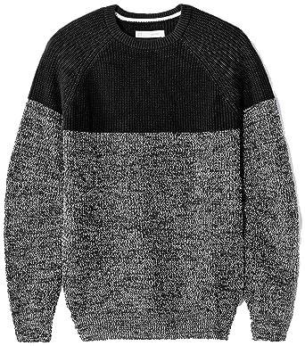 Celio JESHADES, Pull Homme, Noir (Black), Large (Taille Fabricant  L)   Amazon.fr  Vêtements et accessoires 2f2cfdf215f