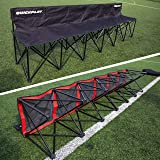 QUICKPLAY PRO Folding Bench 4 or 6 Seats Build to Last Sideline & Sports Team Bench – 2YR WARRANTY – NEW FOR 2017 –