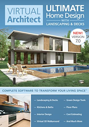 Amazon.com: Virtual Architect Ultimate Home Design with Landscaping on mobile home makeover, online virtual room makeover, living room virtual makeover, lamp makeover,