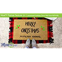 MomTV Partner Feature: DIY Customized Holiday Door Mat from MyPrintly
