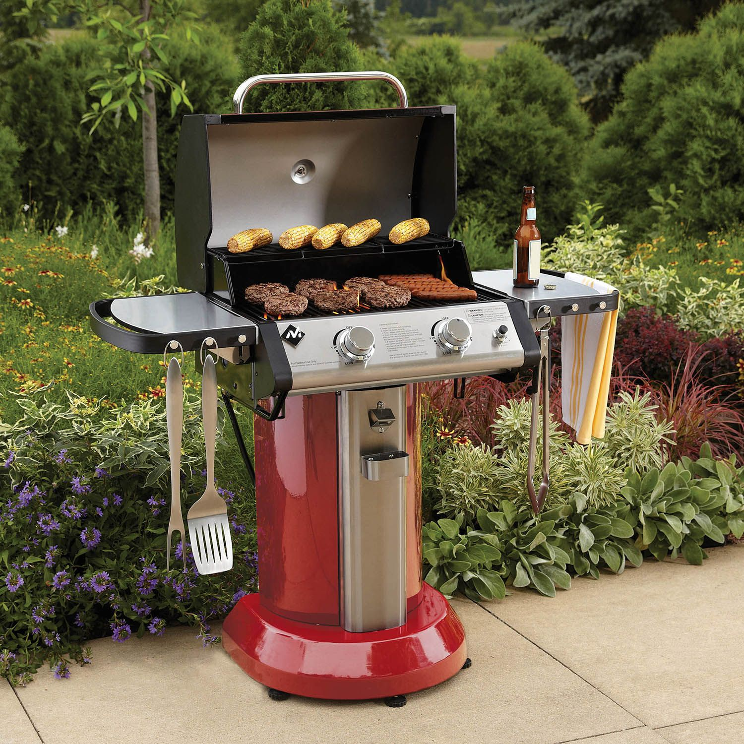 """24"""" Member's Mark Red Patio Gas Grill - Sam's Club"""