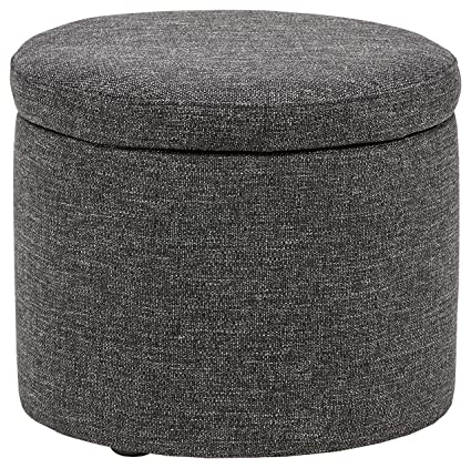 Rivet Madison Lift Top Modern Storage Ottoman, 20u0026quot; ...
