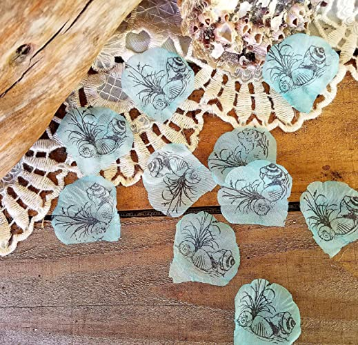 table decorations for beach party table confetti for sea themed party shell confetti