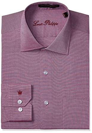 be2a1bd2579523 Louis Philippe Men's Formal Shirt (8907153815968_LPSF1M00028_38_Red)