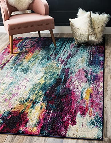 Unique Loom Chromatic Collection Abstract Modern Colorful Kids Multi Area Rug 9 0 x 12 0