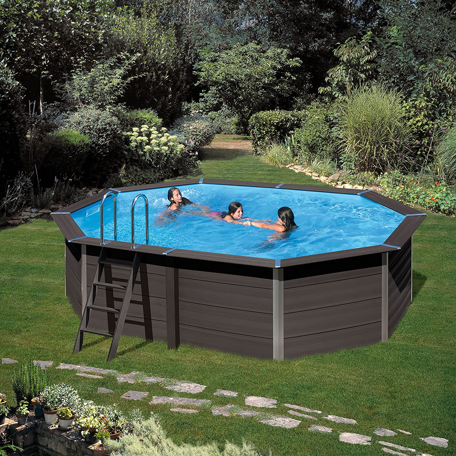 Gre kpcov66 Framed Pool Blue, Brown Above Ground Pool - Piscina Sobre Suelo (Framed Pool, Blue, Brown, 4000 l/h, 125 W, 38 cm, Sand Filter): Amazon.es: ...