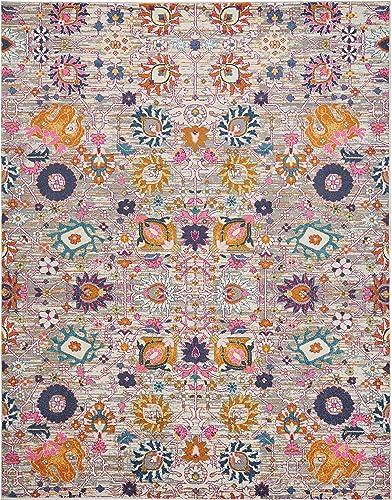 Nourison Passion Bright Colorful Bohemian Silver Area Rug 8 x 10