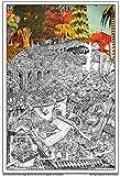 """Wildergorn Posters à Colorier de Jamie Courtier - """"Le Défense du Pogs"""" - affiche GEANTE à colorier 68cm x 100cm"""