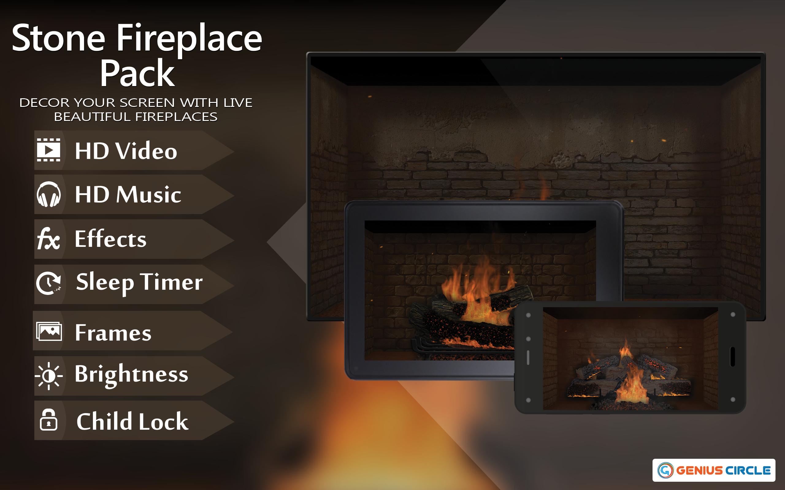paquete de chimenea de piedra HD gratis: disfrute de las frías vacaciones de Navidad en invierno en su TV HDR 4K, TV 8K y dispositivos de fuego como fondo de pantalla, decoración