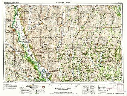 Amazon Com Yellowmaps Nebraska City Ne Topo Map 1 250000 Scale 1