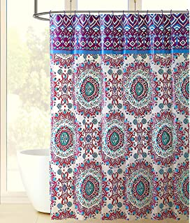 red and turquoise shower curtain. Colorful Bohemian Fabric Shower Curtain  Large Mandala Print With Top Border Design Teal Aqua Amazon Com Elephant Modern Vintage Oriental
