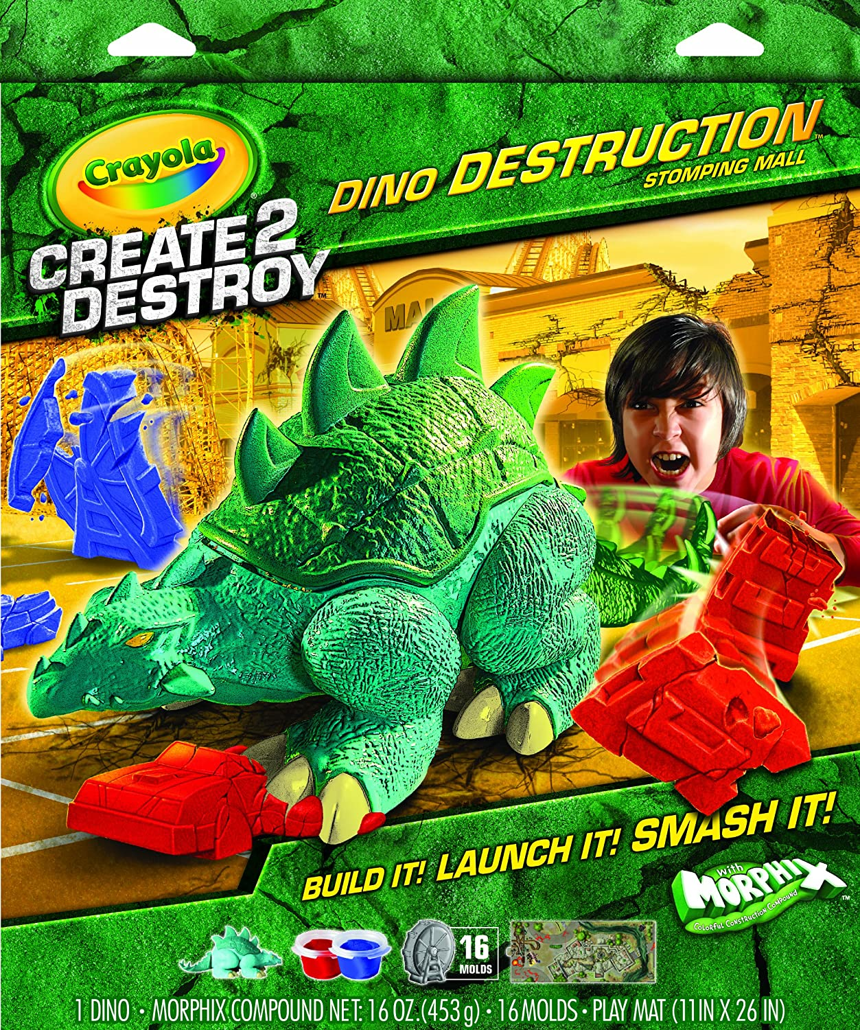 Crayola Create 2 Destroy Dino Destruction Stomping Mall Binney /& Smith 03-4107