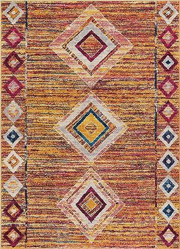 Well Woven Vettore Jasmine Modern Distressed Moroccan Trellis Multi Area Rug 7'10″ x 10'6″