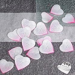 EinsSein 100x Rosenblüten Herz 4cm weiß-rosa Dekoration Blüten Blumen Hochzeit Streudeko Konfetti