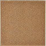 "Hudson Exchange 4098 Fashion Diamond Floor Mat, 35"" x 35"", 3/8"" Thick, Camel"