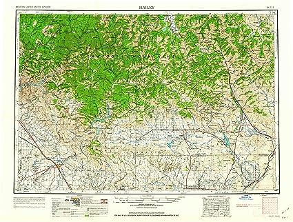 Amazon.com : YellowMaps Hailey ID topo map, 1:250000 Scale ...
