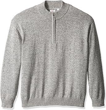 IZOD Mens Big and Tall Newport Marled Quarter Zip 7 Gauge Textured Sweater