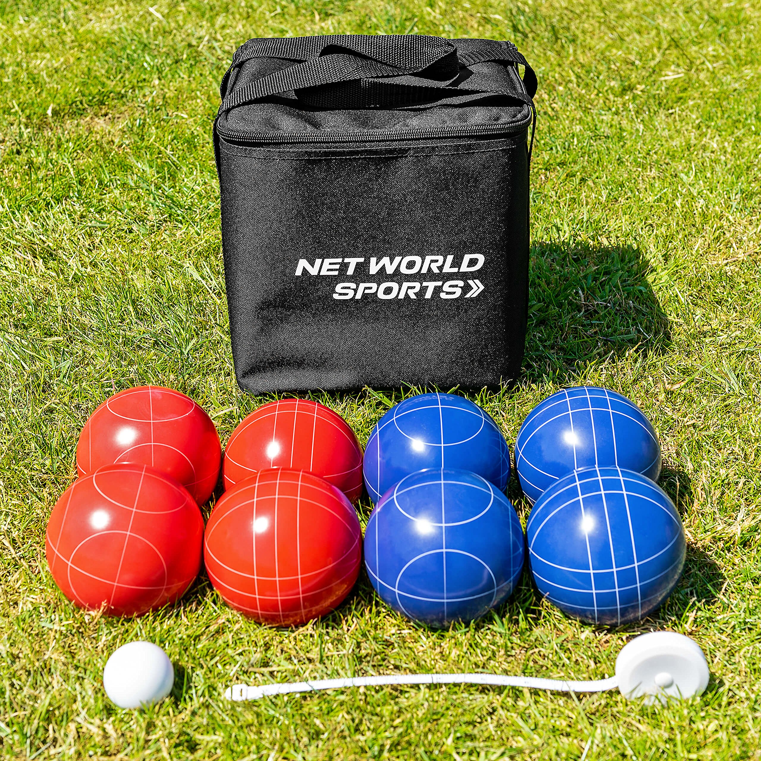 Net World Sports Complete Deluxe Bocce Set - Bocce Ball Set with Measuring Tape and Carry Bag