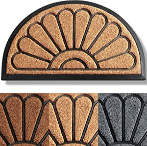 Extra Durable Door Mat 30x18 - Welcome Mats for Front Door - Front Door Mat Outdoor - Door Mats for Home Entrance Doormat - Half-Round Welcome Mat - Rugs for Entryway - Outdoor Doormats - Entryway Rug
