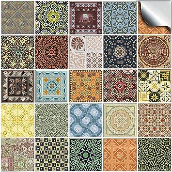 24 Stück Fliesenaufkleber Für Küche Und Bad (Tile Style Decals 24x NTP 06    6u0026quot