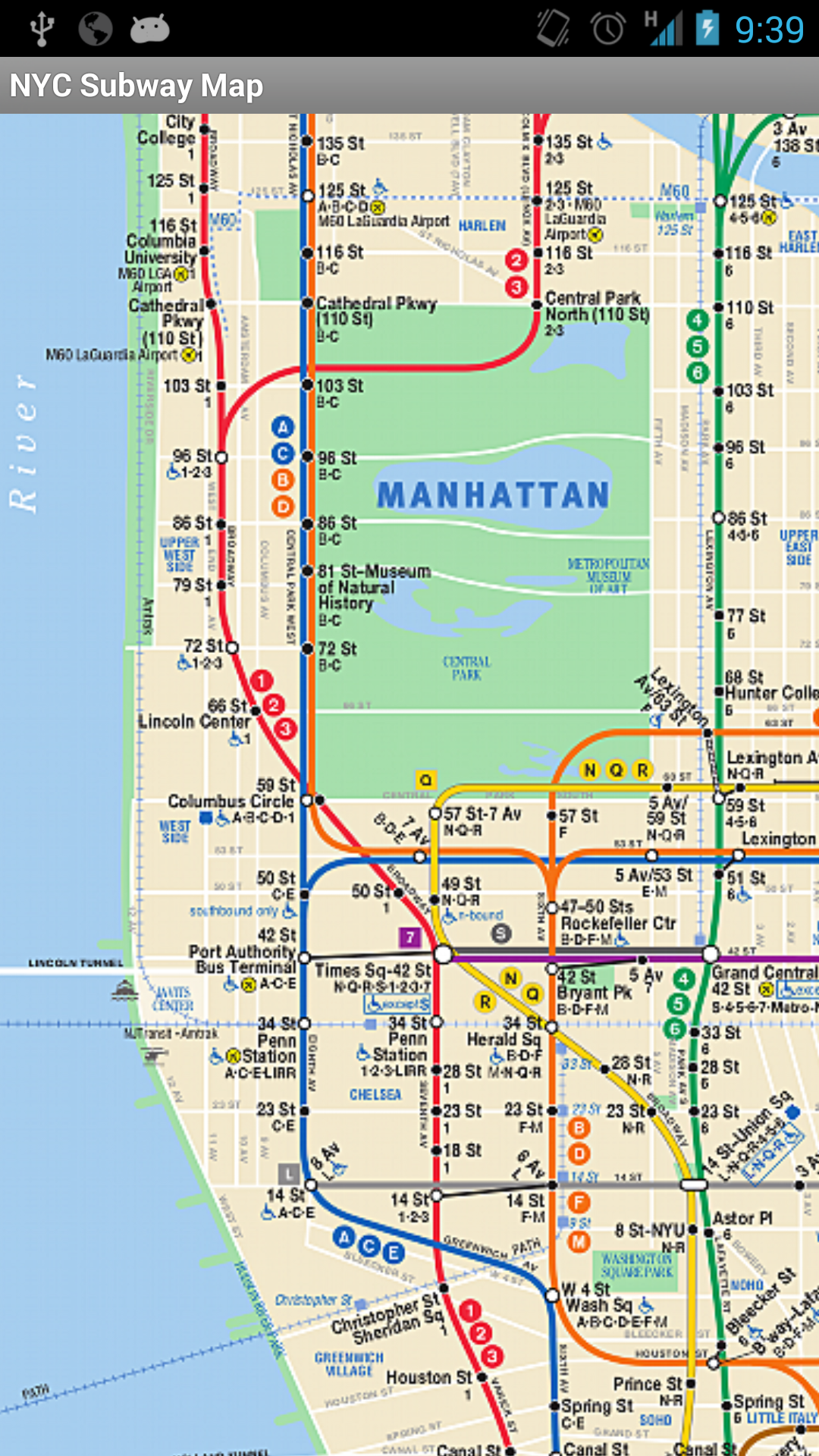 Amazoncom Subway Map NYC Appstore For Android - Nyc map