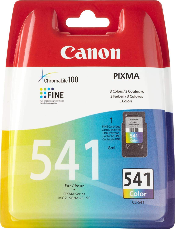 Canon Canon Canon CL-541 Cartucho de tinta original Tricolor para Impresora de Inyeccion de tinta Pixma TS5150-TS5051-MX375-MX395-MX435-MX455-MX475-MX515-MX525-MX535-MG2150-MG2250-MG3150-MG3250-MG3550-MG3650-MG4150-MG4250 345955