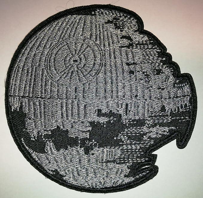 Parche bordado de Star Wars de 10 x 10 cm, con diseño de Estrella de la muerte