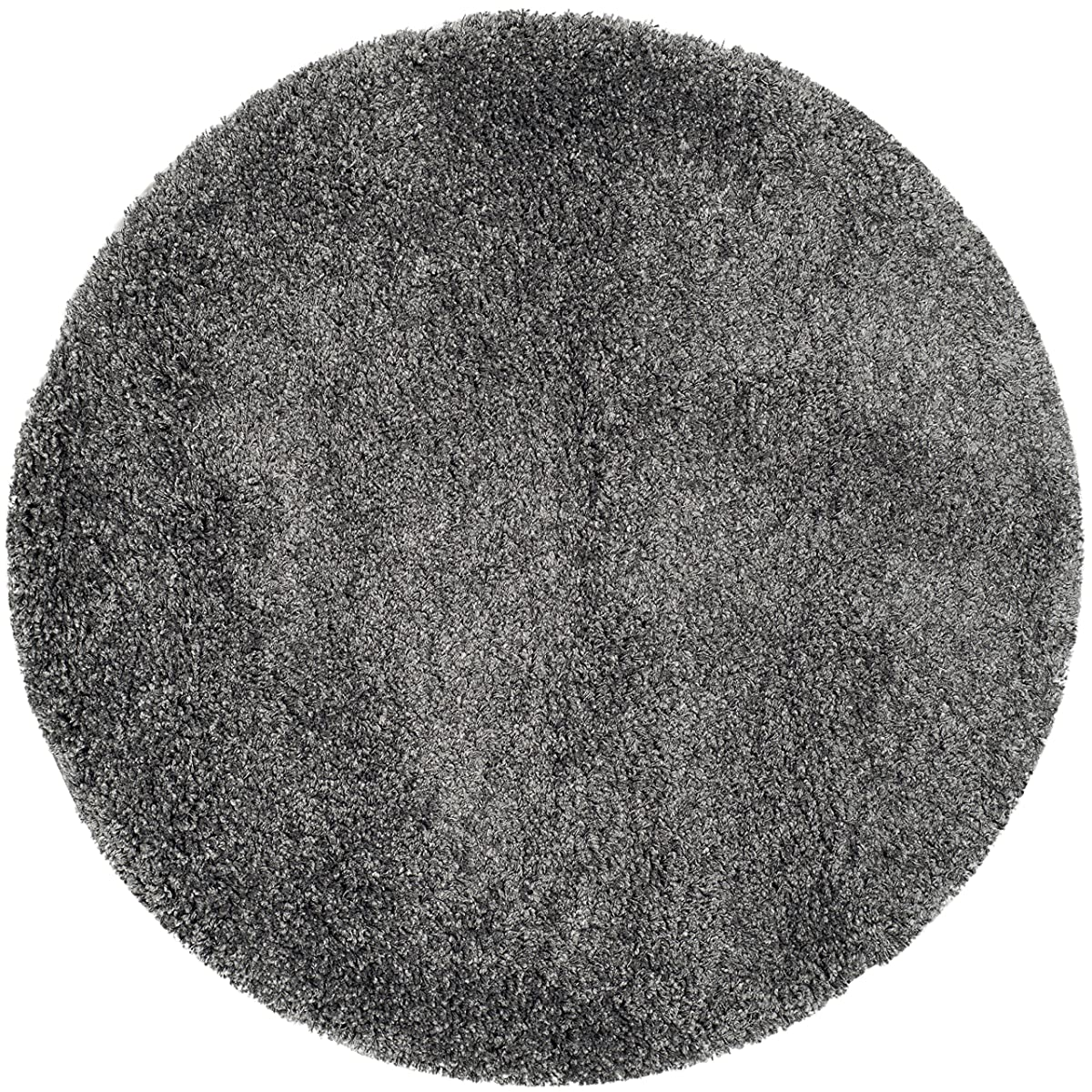 Safavieh California Shag Collection 4 Diameter Area Rug, Dark Grey
