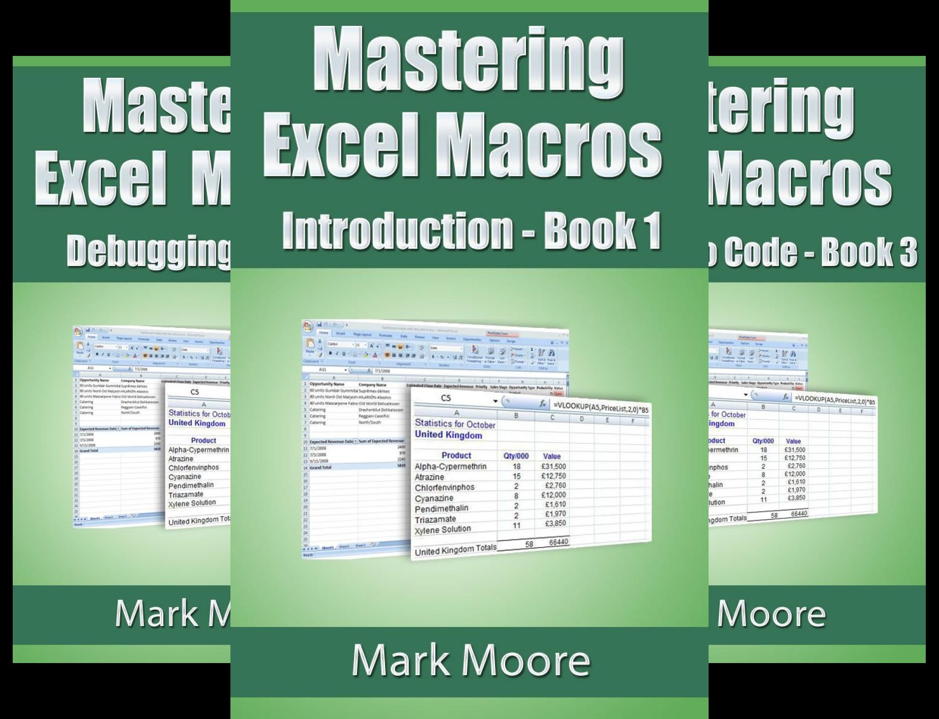Mastering Excel Macros (12 Book Series)