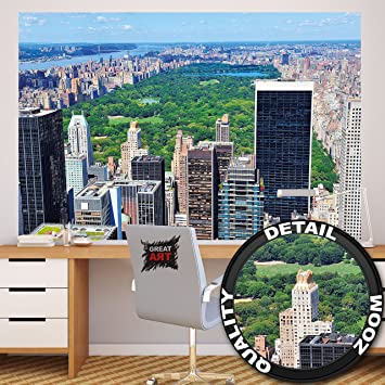 Fototapete Ausblick Auf Den Central Park Wand Dekoration   Wandbild  Metropole Poster Motiv By