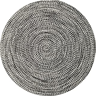 product image for Colonial Mills Kaari Tweed Round Indoor/Outdoor Braided Area Rug 12' x 12' Electric Black
