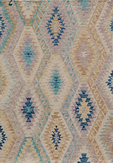 Momeni Rugs TANGITAN16MTI2380 Tangier Collection 100/% Wool Hand Tufted Tip Sheared Rug 23 x 8 Multicolor 2/'3 x 8/' Inc.
