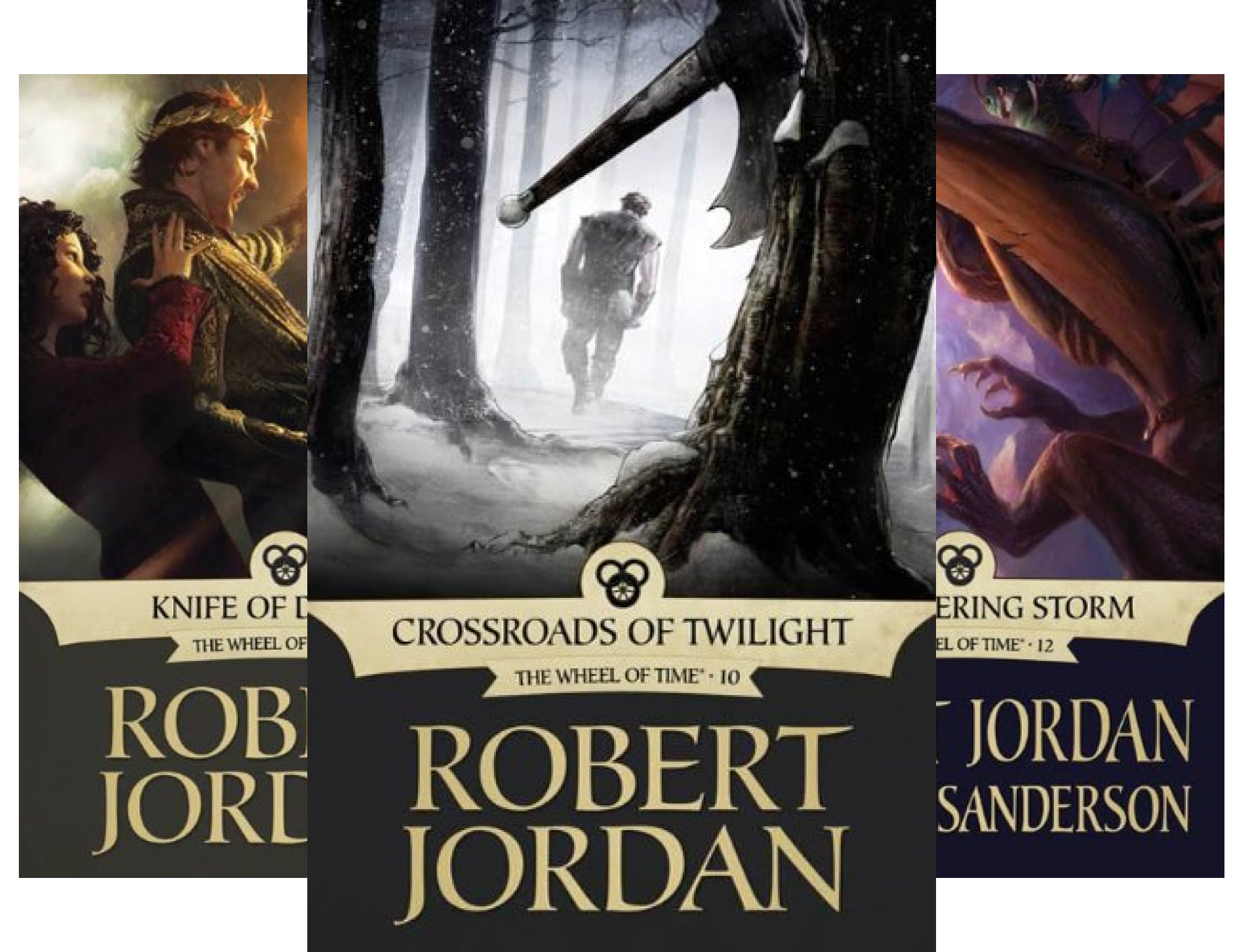 Wheel of Time: Crossroads of Twilight, Knife of Dreams, Gathering Storm (3 Book Series)