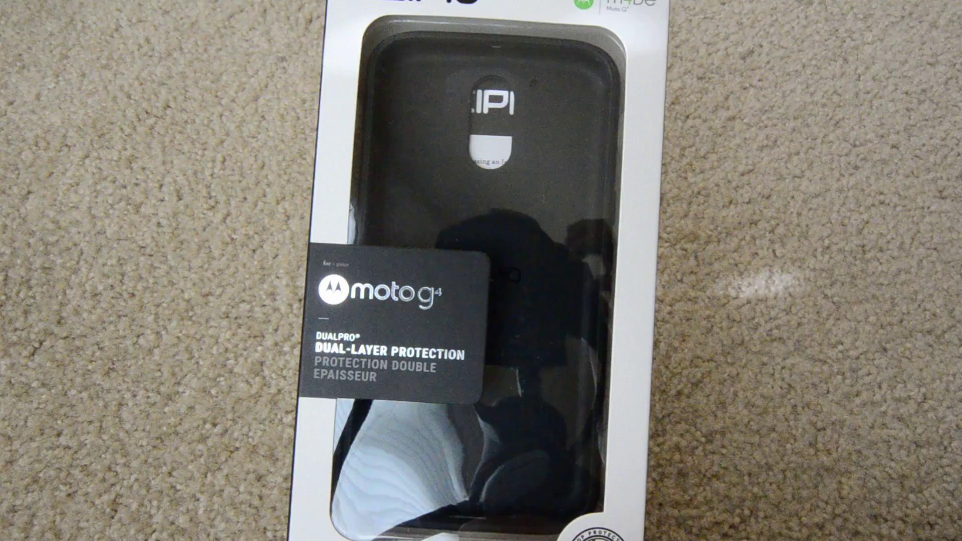 Amazon Incipio DualPro for Moto g4 g4 Plus Black Black Cell